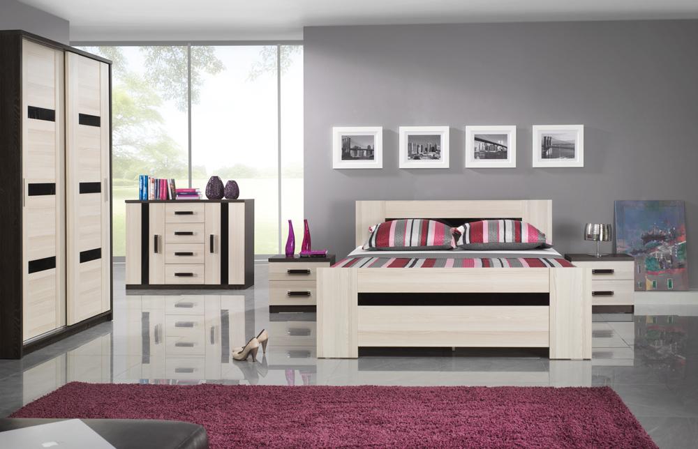 ORLANDO spálňová zostava - skriňa, posteľ, nočné stolíky, komoda