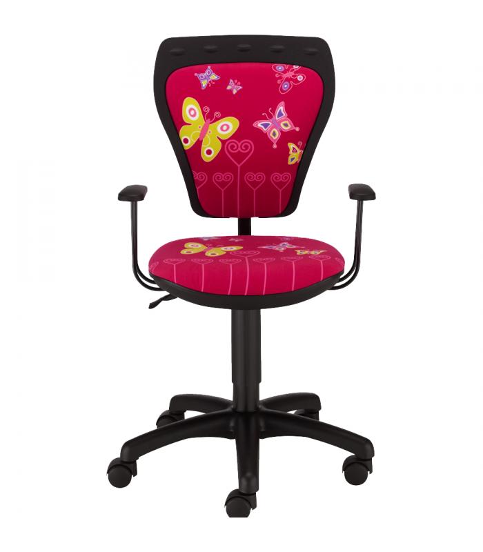 da43a75c94b49 MINISTYLE GTP + opierky GTP28 FIX, kancelárska stolička detská, BUTTERFLY