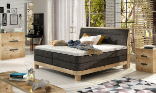 DONNA boxspring massiv wood posteľ